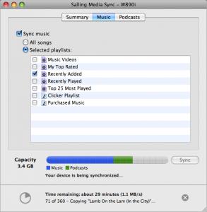 Synkroniser din musik fra iTunes til din mobil.