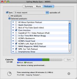 Synkroniser dine podcast fra iTunes til din mobil.